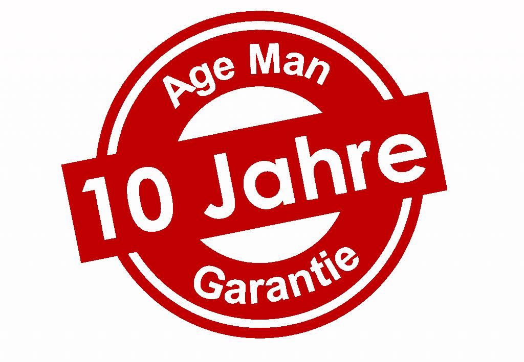 Welcher andere Altersanzug bietet Ihnen 10 Jahre Garantie?