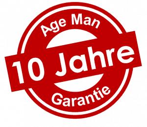 Nur AgeMan bietet Ihnen 10 Jahre Garantie!