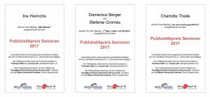 Preisträger Publizistikpreis Senioren 2017