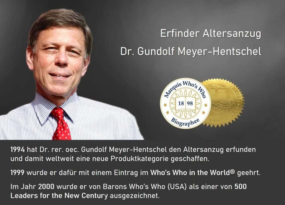 Dieser Deutsche hat den ersten Altersanzug enwickelt und wurde dafür international ausgezeichnet.