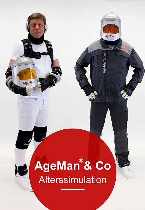 Titelbild Produktkatalog/ Preisliste Alterssimulationsanzug AgeMan